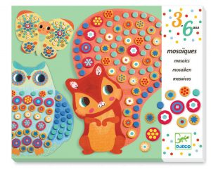 Four to six year old gift ideas - Djeco Milifiori Animal Mosaics