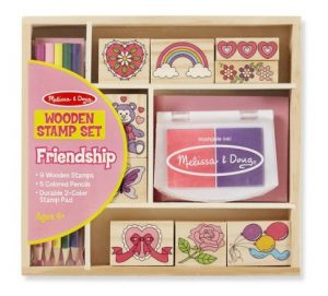 Four to six year old gift ideas - friendship stamp set