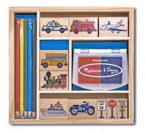 Four to six year old gift ideas - vehicles stamp set