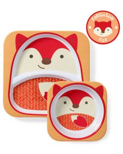 One year old gift ideas - fox skip hop melamine set