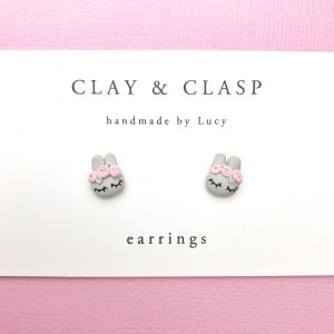 Seven to nine year old gift ideas - Clay and Clasp bunny earrings