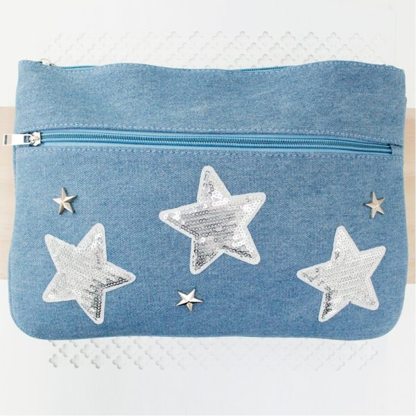 Seven to nine year old gift ideas - denim stars pencil case