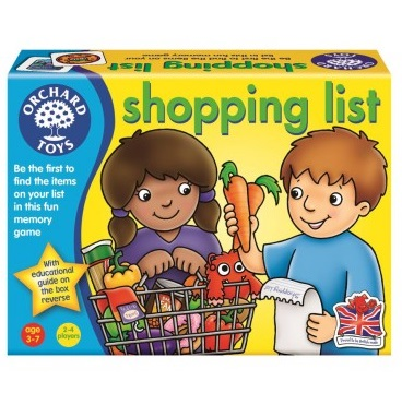 Three year old gift ideas - Shopping List game   giftgrapevine com au