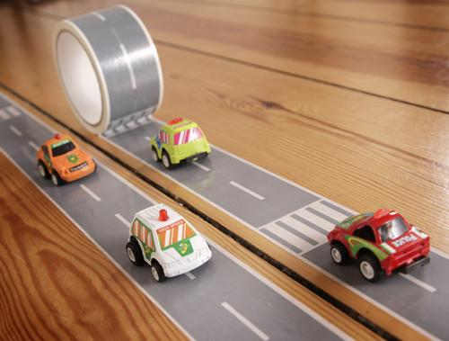 Three year old gift ideas - autobahn road tape