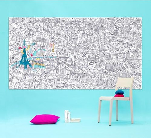 Tween gift ideas - OMY giant colouriing roll Paris