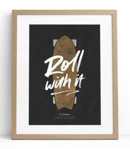Tween gift ideas - Roll With It print charcoal