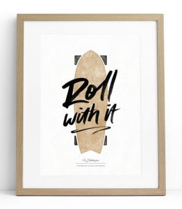 Tween gift ideas - Roll With It print white