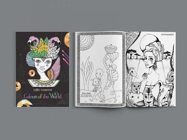 Tween gift ideas - rafiki mwema charity colouring book