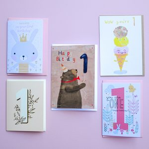 Gift Grapevine 1st Birthday Card Bundle (5)