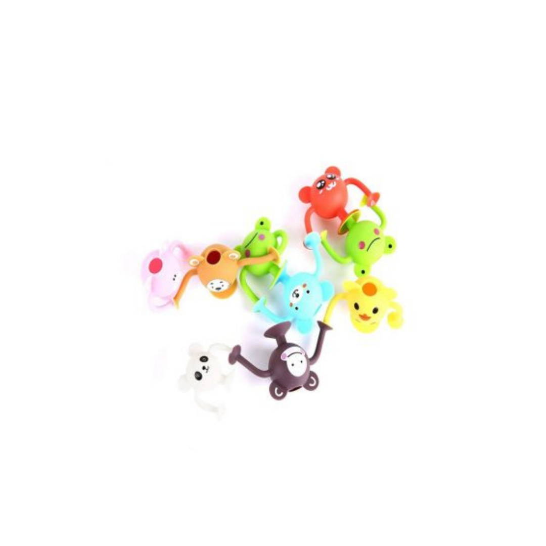 Silicone suction toddler bath toys